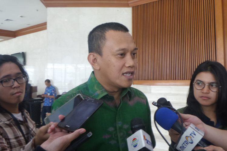 Sekretaris Jenderal Partai Kebangkitan Bangsa (PKB), Abdul Kadir Karding di Kompleks Parlemen, Senayan, Jakarta, Kamis (27/7/2017).