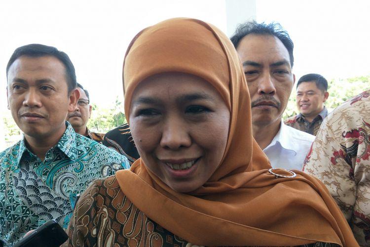 Menteri Sosial RI Khofifah Indar Parawansa ketika ditemui di Auditorium TMPNU Kalibata, Jakarta, Kamis (4/1/2018).