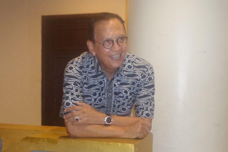 Roy Marten ditemui di Hotel Nam, Kemayoran, Jakarta Pusat, Sabtu (22/7/2017).