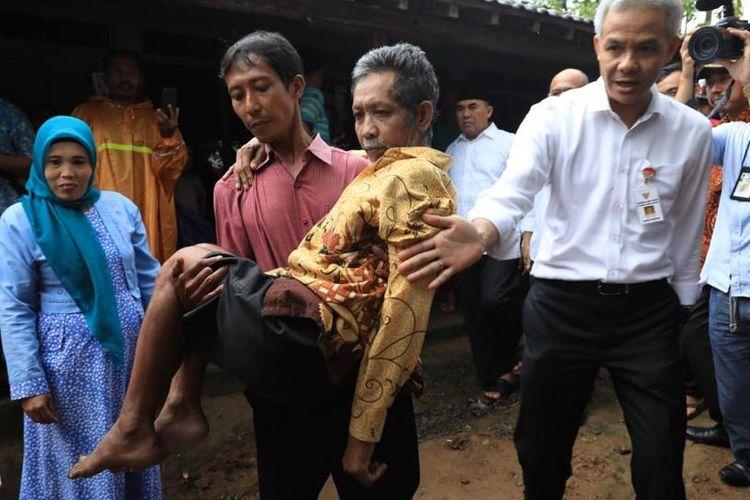 Di Jepara, Ganjar Pranowo Tak Sengaja Bertemu Penderita Stroke