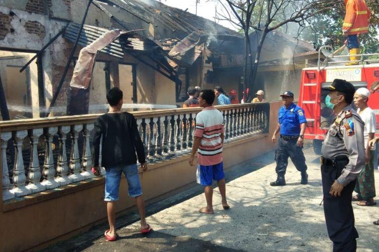 Mesin pertamini milik Nurjanah (66) di Desa Loram Wetan, Kecamatan Jati, Kabupaten Kudus, Jawa Tengah, meledak, Kamis (14/06/2018).