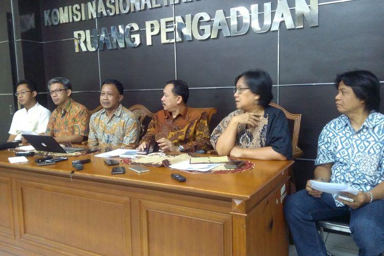 Komisi Nasional Hak Asasi Manusia (Komnas HAM) meminta DPR untuk menunda pengesahan RKUHP, Jakarta, Jumat (2/2/2018). RKUHP harus diuji dampak terlebih dahulu dan pembahasannya perlu melibatkan publik dan masukan dari berbagai pihak.