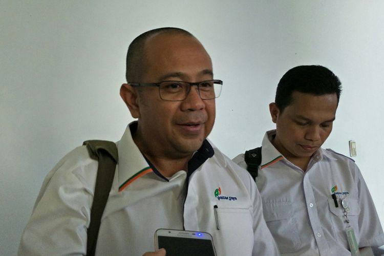 Direktur Utama PD Pasar Jaya Arief Nasrudin di Balai Kota DKI Jakarta, Jalan Medan Merdeka Selatan, Kamis (4/1/2018).