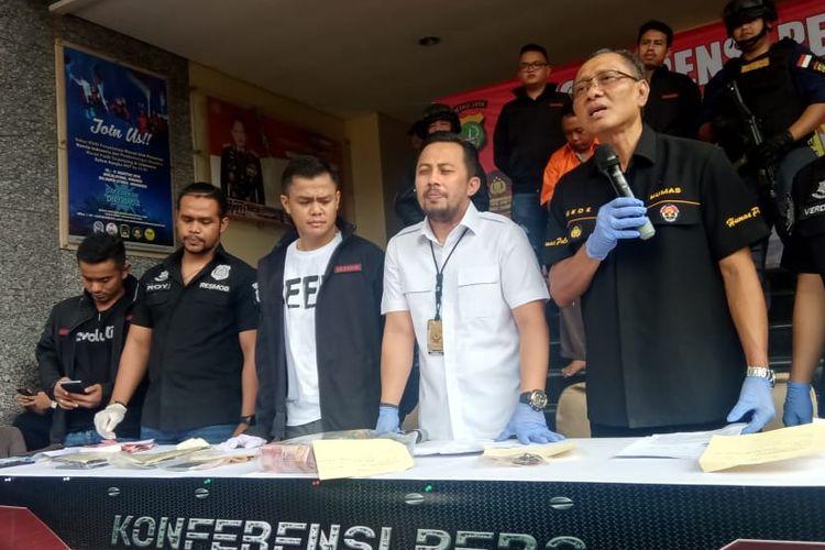Wadir Direktorat Reserse Kriminal Umum (Ditreskrimum) Polda Metro Jaya, AKBP Ade Ary di Polda Metro Jaya, Sabtu (18/5/2019).