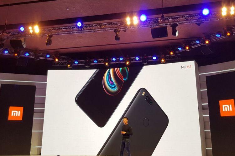 Xiaomi Mi A1saat diluncurkan di India, Selasa (5/9/2017).