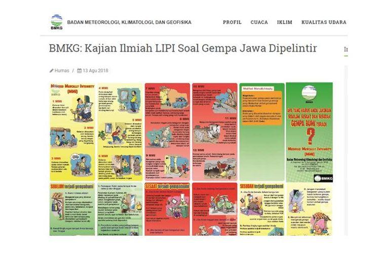 Klarifikasi dari BMKG dan LIPI terkait pemberitaan yang beredar di masyarakat mengenai pergerakan lempeng Jawa.