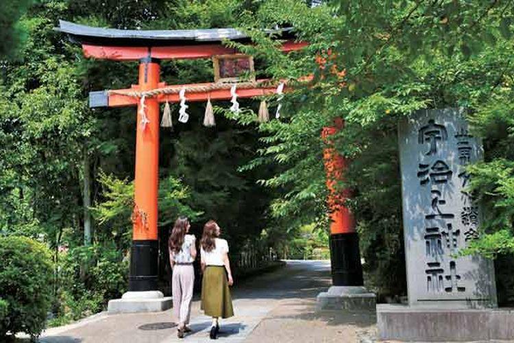 Kuil Ujigami di Kyoto, Jepang, ini terdaftar sebagai warisan budaya dunia UNESCO dan warisan budaya nasional Jepang.