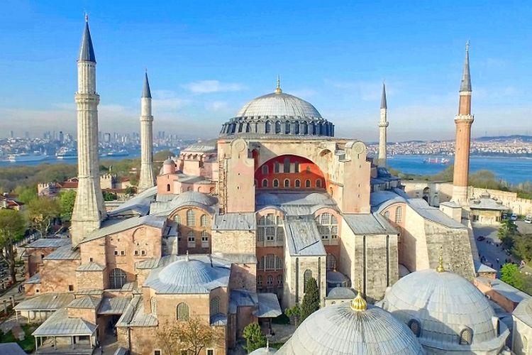 Museum Hagia Sophia di Istanbul, Turki.