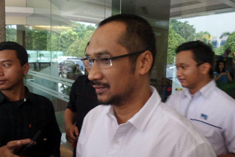 Mantan Ketua KPK, Abraham Samad, di RS Mitra Keluarga Kelapa Gading, Jakarta Utara, Selasa (11/4/2017).