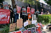 Protes Eksekusi Mati Misrin, Aktivis Aksi di Depan Kedubes Arab Saudi