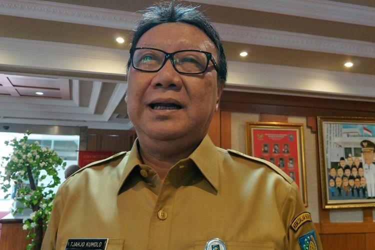 Menteri Dalam Negeri, Tjahjo Kumolo ketika ditemui di kantor Kementerian Dalam Negeri, Jakarta, Senin (5/2/2018).