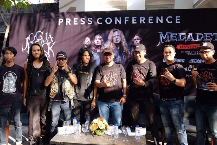 Jumpa pers JogjaROCKarta Festival di Yogyakara, Jumat (30/6/2018).