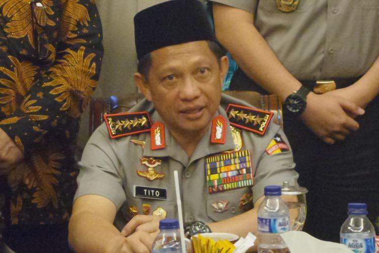 Kapolri Jenderal Pol Tito Karnavian di kantor PBNU, Jakarta, Rabu (31/1/2018).