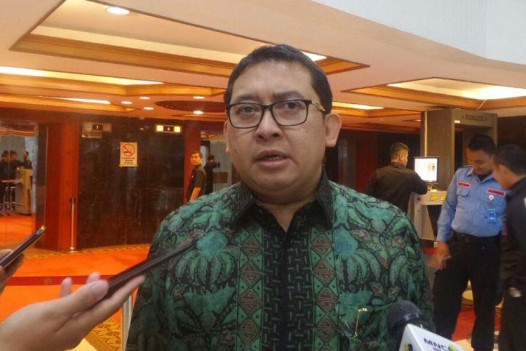 Wakil Ketua DPR RI Fadli Zon di Kompleks Parlemen, Senayan, Jakarta, Senin (7/8/2017).