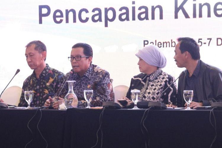 Rapat Evaluasi dan Proyeksi Pencapaian Kinerja Tahun 2018 di Palembang, Sumatera Selatan, pada Rabu (5/12/2018).