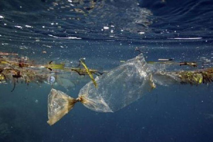 Sampah plastik di lautan. Ilmuwan menyatakan bahwa 99 persen plastik m ikroskopik di lautan hilang, kemungkinan dimakan hewan.