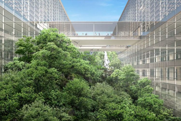 Desain terminal baru Bandara Suvarnabhumi karya tim arsitek DBLAP.