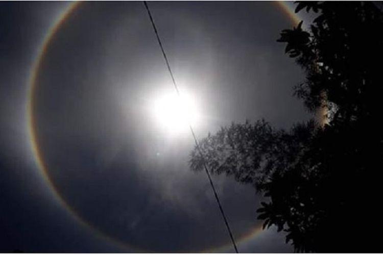 Halo Matahari di atas langit Tegal, Banyumas hingga Kebumen