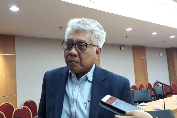 Direktur Utama PT Jakarta Propertindo (Jakpro) Dwi Wahyu Daryoto di Gedung DPRD DKI Jakarta, Jalan Kebon Sirih, Jakarta Pusat, Kamis (8/11/2018).