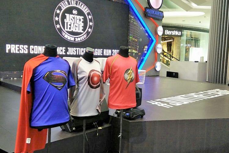 Kostum untuk para peserta Justice League Run bisa dipilih sesuai tokoh idola