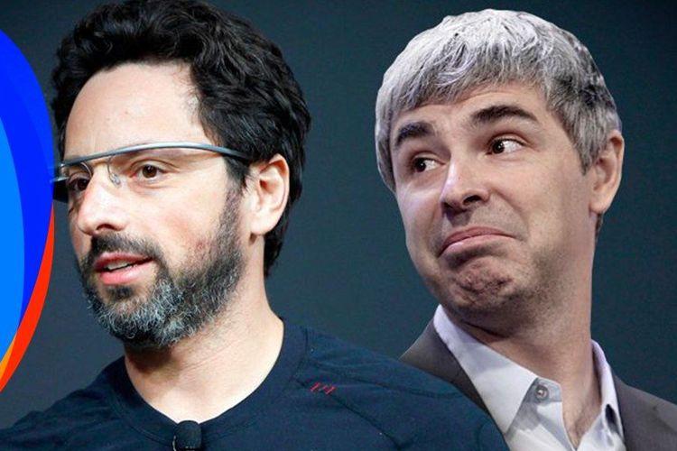 Duo pendiri Google Sergey Brin (kanan) dan Larry Page.