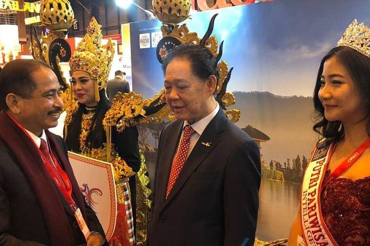 Menteri Pariwisata, Arief Yahya saat menghadiri Internazionale del Turismo (BIT) Milano yang digelar di Italia pada Kamis (11/4/2019) hingga Sabtu (13/4/2019).