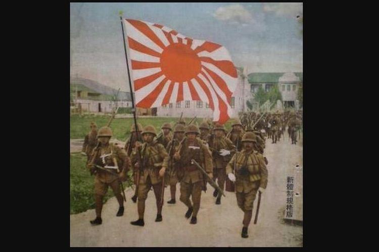 Kedatangan tentara Jepang ke Hindia Belanda (Indonesia).