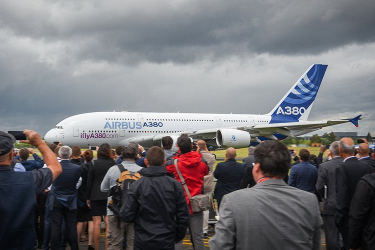 Airbus A380 di Farnborough Airshow 2016