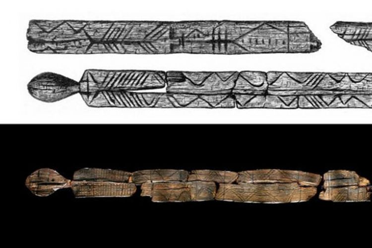 Patung kayu kuno dari Rusia