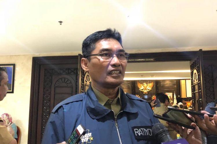 Kepala Dinas Olahraga dan Kepemudaan DKI Jakarta Ratiyono di Gedung DPRD DKI Jakarta, Senin (10/9/2018).