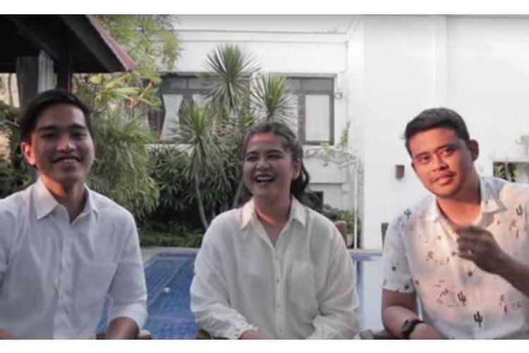 Salah satu cuplikan dalam video blog QnA: Aku, Mas Bobby dan Mbak Ayang di akun YouTube Kaesang Pangarep yang diunggah pada Senin (18/9/2017).