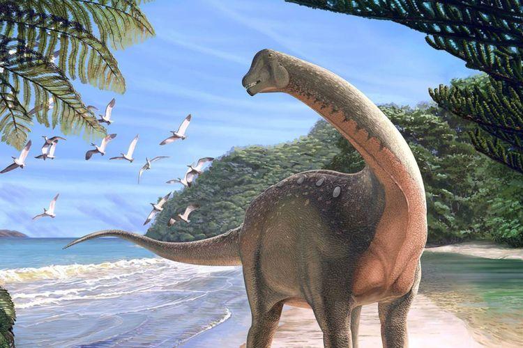 Ilustrasi Mansourasaurus shahinae