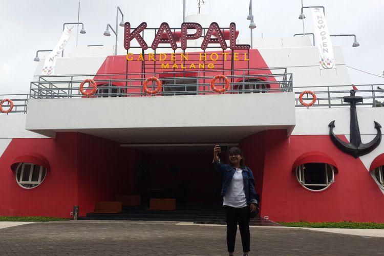 Hotel Kapal Garden di Kecamatan Dau, Kabupaten Malang, Jawa Timur, tampak depan, Kamis (3/1/2019).