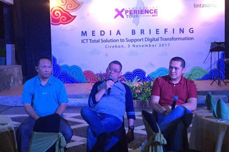 Media briefing Lintasarta, Jumat (3/11/2017) di Cirebon.
