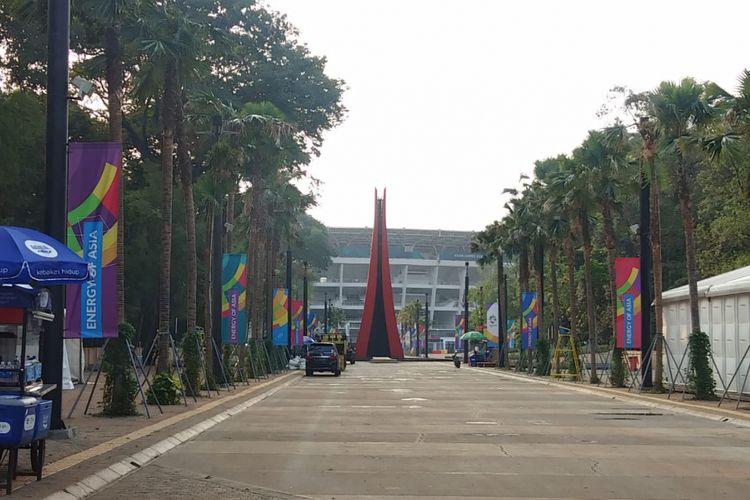 Seiring dengan berakhirnya Asian Games 2018, api pada ujung pangkal kaldron yang berada di depan Stadion Utama Gelora Bung Karno pun dipadamkam. Api dipadamkan saat pesta closing ceremony Asian Games 2018, Minggu (2/9/2018) malam