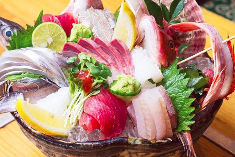 Aneka olahan seafood di salah satu restoran di Wakayama, Jepang,