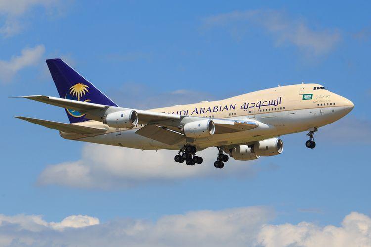 Ilustrasi pesawat Saudi Airlines.