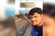 Selfie Ekstrem di Pinggir Rel, Pria India Tertabrak Kereta