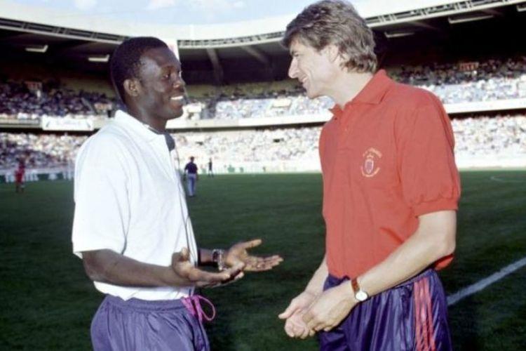 George SWeah dan Arsen Wenger