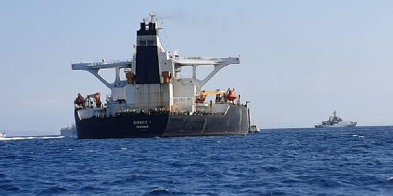Inilah Grace 1, kapal tanker super yang disita oleh Marinir Inggris dibantu polisi Gibraltar setelah diduga membawa minyak dari Iran ke Suriah.