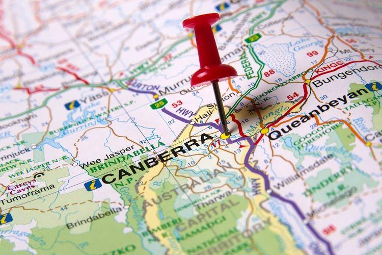Peta kota Canberra.