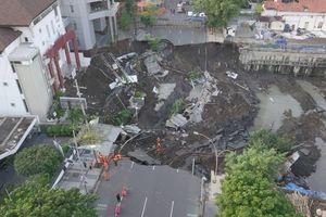 BNPB: Amblesnya Jalan Gubeng karena Kesalahan Konstruksi Basement RS