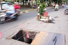 Gorong-gorong Tanpa Tutup di Jalan I Gusti Ngurah Rai Bahayakan Pengendara