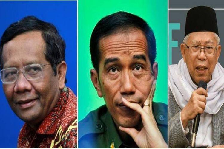 Mahfud MD, Jokowi, Maruf Amin