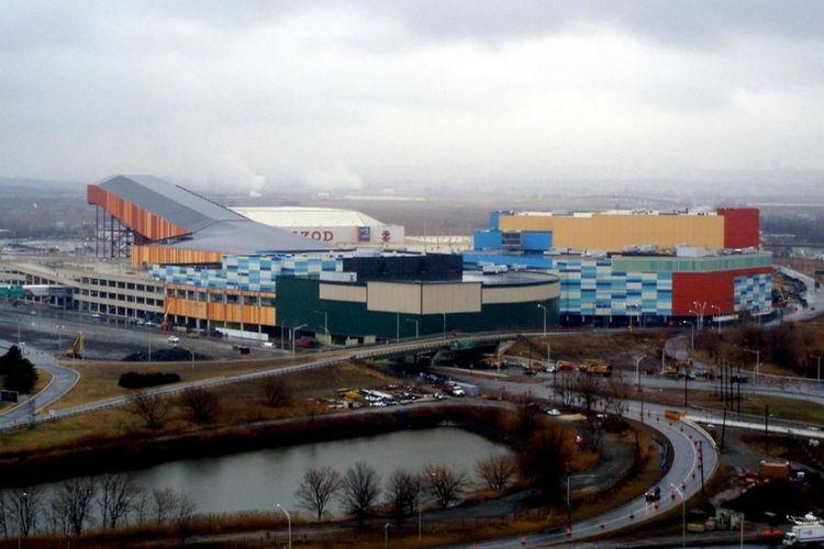 The American Dream Mall yang berada di Meadowlands, New Jersey, sedang dalam pembangunan.