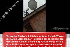 4 Fakta Polisi Kejar Bandar Narkoba di Atap Rumah, Diteriaki Warga hingga Jadi Tontonan