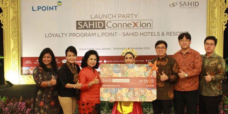 Sahid Hotels & Resorts meluncurkan loyalty program terbarunya Sahid ConneXion dengan menggandeng L.POINT Indonesia di Hotel Grand Sahid Jaya Jakarta, Rabu (7/11/2018).