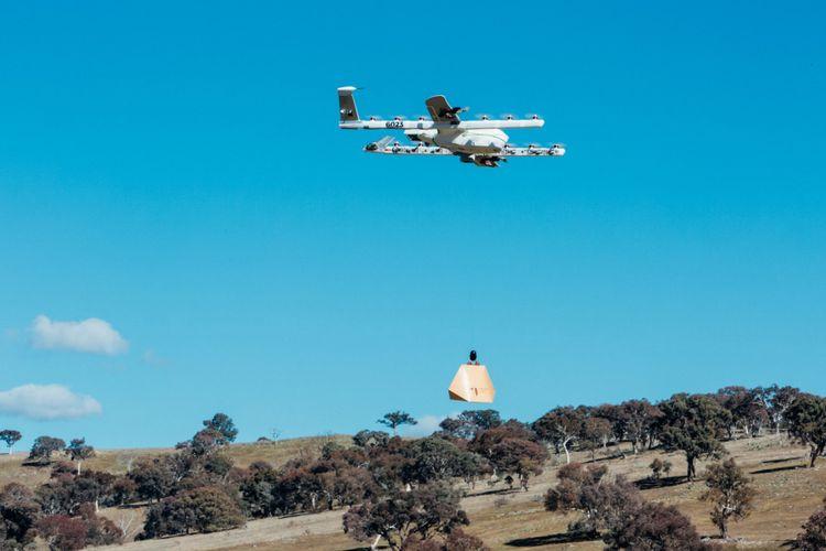 Alphabet menguji coba drone untuk mengirimkan makanan Meksiko di Australia.