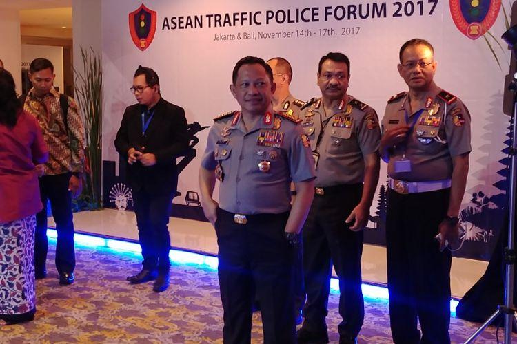 Kepala Polri Jenderal pol Tito Karnavian di Asean Traffic Police Forum 2017, di Jakarta, Rabu (15/11/2017).