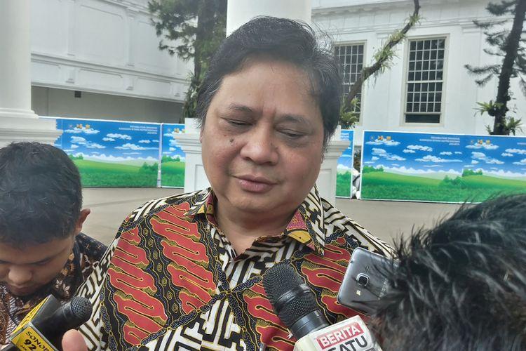 Menteri Perindustrian Airlangga Hartarto di Kompleks Istana Kepresidenan, Rabu (30/8/2017).